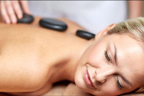 ♦ Blid & Afslappende ♦ - 60 min. Hotstone rygmassage hos Studio Kirlita, værdi kr. 400,-