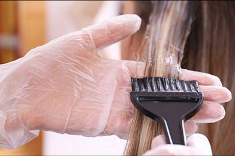 SUPER pris på en lækker forkælelses-behandling! - Dameklip inkl. helfarve, vask og føn til LANGT hår hos LK v. Nadja Resa, værdi kr. 1600,-