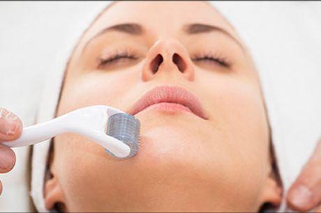 Udskyd hudens aldringsprocesser! - DermaJet Roller beh. inkl. dermaroller og retning af bryn, vælg ml. flere tilbud hos Klinik Unique, værdi op til kr. 4941,-