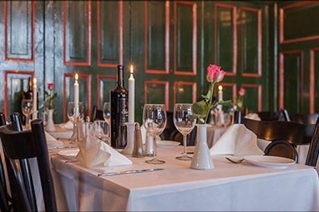 Nyd den dejlige mad og gode stemning på Restaurant Dubrovnik i Studiestræde - 3 retters menu for 1 person, værdi kr. 299,-