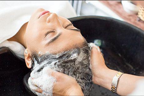 Få lavet flotte striber i langt hår hos Adrianahaar.dk på Østerbro.. - Striber med colorboard, staniol inkl. vask, hårkur samt føn i langt hår, værdi kr. 1870,-