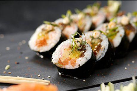 Så er middagen klaret - Bestil lækker sushi! - Lækker sushi fra Restaurant Le, vælg mellem 3 menuer, værdi op til kr. 520,-