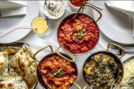 Nyd en lækker indisk menu på Østerbro - Bestil bord til en lækker 5 retters MAHARAJA-MENU for 1 person hos Indian Maharaja Restaurant Østerbro, værdi kr. 398,-