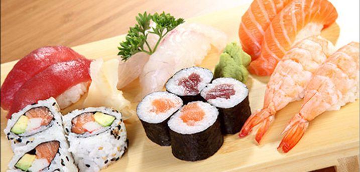 Lækker take-away fra SOYA1 i Jægergårdsgade - Take-away menu, 38 stykker sushi fra SOYA1, værdi kr. 408,-
