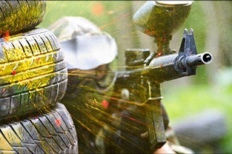 Klar til et adrenalin kick af de store - Tag vennerne med til Paintball - Halvanden times paintball inkl. 150 skud for 1 person, værdi kr. 150