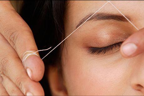 Hårfjerning med tråd er en meget gammel tradition! - Hårfjerning af bryn m/tråd hos Magic Hair Design, normalpris kr. 145,-