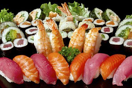 Over 2600 solgte! Frisk, sund og velsmagende Sushi - 70 stk. sushi fra Sushi One, Nordre Frihavnsgade, værdi kr. 724,-