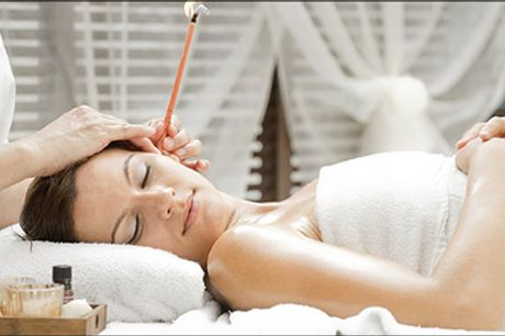 Rabat på Øre lys-behandling hos Beauty & Health - Øre lys-behandling ca. 30 minutter, værdi kr. 300,-