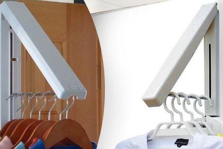 Opbevar dit bøjletøj på en nem og smart måde med en foldbar bøjlehænger