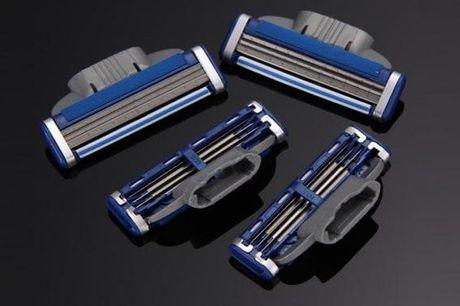 Kompatible barberblade Gillette Mach 3-serien. Sensitiv og god mod huden - til mænd