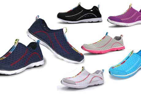 Forkæl dine fødder med et par åndbare sneakers som både tåler vand, hurtigtørrende og oplagte til terræn og som løbesko
