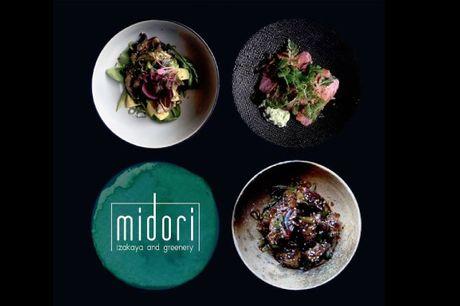 Spar 33% i aften: Midori byder på japansk tapas i grønne omgivelser i Grønnegade.