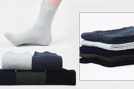 Sokkerne er lavet af bambusfiber som er ultra blødt, behagelige, holdbart og fleksibelt.