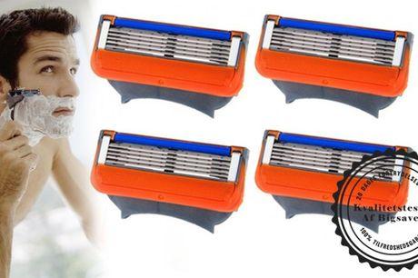 Kompatible Gillette Fusion barberblade som giver dig en nem, tæt og skånsom barbering