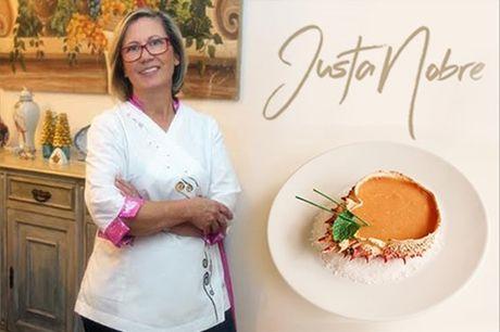 Descubra o afamado restaurante da Chef Justa Nobre! Experiência ímpar da boa cozinha portuguesa no restaurante O Nobre, com um voucher de 50€ pelo valor de apenas 25€, para refeição à La Carte (2 pessoas) em Lisboa, Campo Pequeno