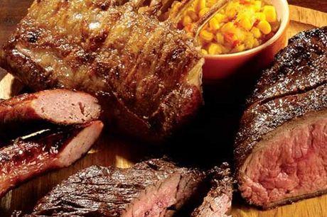 Rodízio de carnes à discrição no restaurante + acompanhamento & 3 Entradas para 2 pessoas no Garphus por apenas 19,90€
