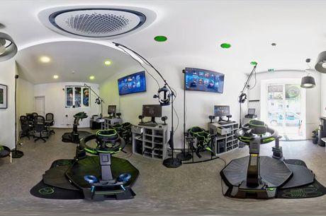 Viva esta experiência de estar dentro de um jogo. Com o Simulador Omni Virtux sentirá que faz parte desta realidade virtual. Atividade para 1 pessoa por 9,90€ e para duas por 24,90€.