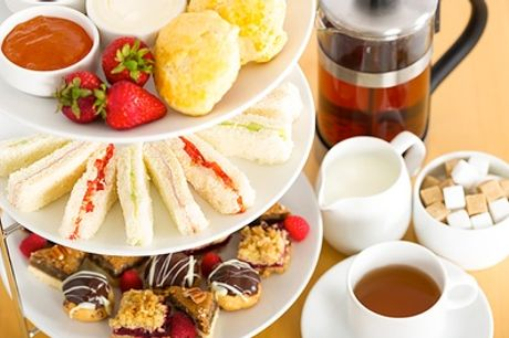 Afternoon Tea for Two or Four with Free-Flowing Tea or Coffee at Beachside Coffee Shop