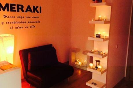 Masaje de hasta 90 minutos a elegir o ritual premium desde 16,95 € en Meraki Terapias