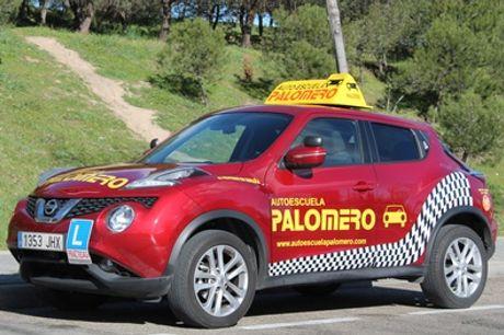 Curso carné de coche B con teórico, libros y 6 o 12 prácticas desde 24,9 € en Autoescuela Palomero