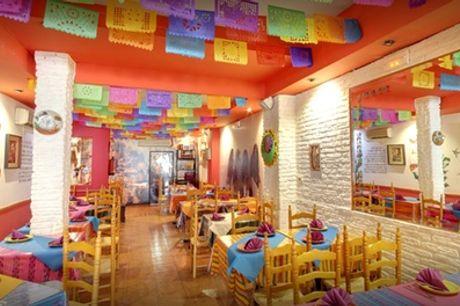 Menú mexicano con entrante, principal, postre y bebida para 2 o 4 personas desde 24,95 € en Mañanitas