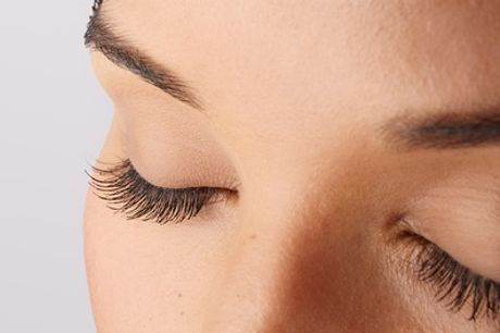 Full Set of Individual Eyelash Extensions or Lash Lift and Tint at Isha Beauty