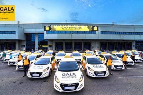 Curso para obtener el carné con teórico, libros, matrícula y 4 o 6 prácticas desde 19,95€ en 77 centros Autoescuela Gala