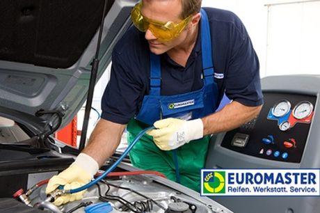 Klimaanlagen-Wartung inkl. Kältemittel und optional Desinfektion bei EUROMASTER (bis zu 49% sparen*)