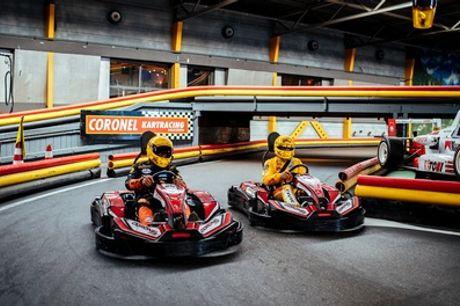Karten bij Coronel: race met 1-10 personen op het op Spa-Francorchamps geïnspireerde circuit in Huizen
