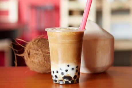 Bubble Tea mit 2 Toppings in der Mealux Station (40% sparen*)