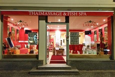 60. Min Fisch-Spa und Thai-Fuß-Massage für 1 od. 2 Personen bei Lakana Thaimassage & Fish-Spa (13% sparen*)