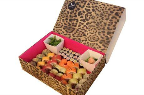Tijgerbox met 58 stuks sushi bij Urban Sushi in Den Haag