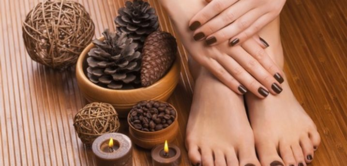 Deluxe Manicure, Pedicure or Both at Aroma Beauty Bar