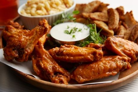 10- or 20-Wing Platter with Large Sides for Two or Four at Semedos