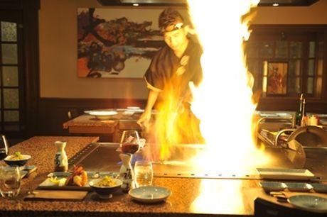 """Culinair teppanyaki-menu van veel gerechten voor 1-10 pers. met """"live cooking"""" bij Japans restaurant Daikichi in Alkmaar"""