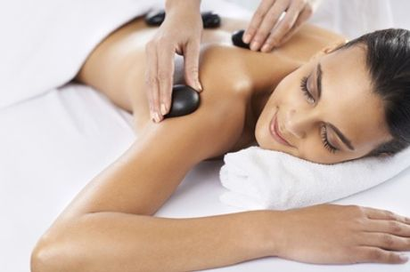 Hot Stone Back, Neck, Shoulder and Indian Head Massage with Gel on Fingers and Toes from Inches Beauty Salon