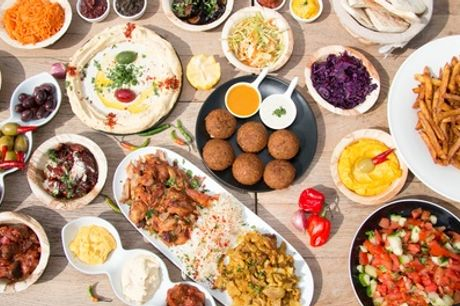 Turkish Mezze Platter with Warm Bread and Wine for Two or Four at AĞA Mezze Palace