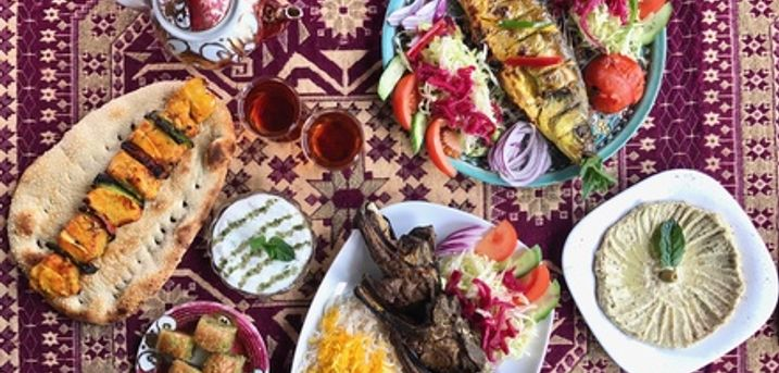 Persian Starter, Main Course, Baklava and Tea for Two or Four People at Saba Restaurant