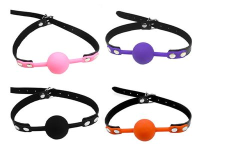 £8.99 instead of £19.99 (from Fifty Shades of Lust) for a silicone bondage ball gag – choose from four colours and save 55%