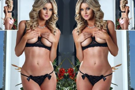 £7.99 for a peekaboob open bra and g-string set from GameChanger Associates