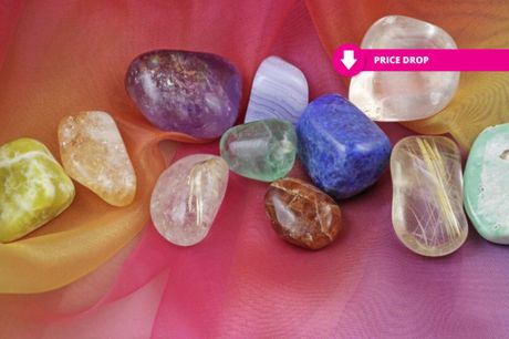 £14 instead of £99 for an online crystal healing course - CPD certified from Trendimi Ltd - save 86%