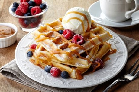 Sweet Waffle or American Pancake for Two or Four at Ultimate Cafe