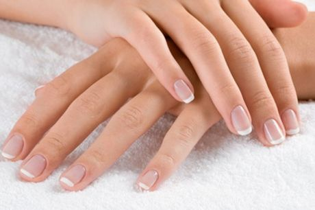Natural Nails Manicure, Shellac Polish on Fingers or Toes, or Full Set of Acrylic Nails at Nelly Nails