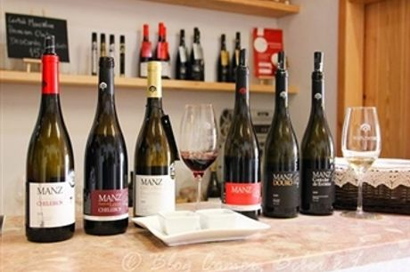 Prova de 6 Vinhos Premium MANZWINE com Degustação de Produtos Regionais e Visita à Propriedade para 2 Pessoas em MAFRA por 19.90€.