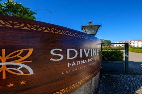 NOVO: SDIVINE FÁTIMA HOTEL - 1 ou 2 Noites com Meia Pensão, Visita às Grutas da Moeda e Opção de Picnic.