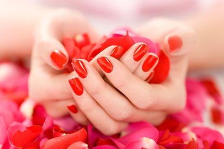 1 of 2 schoonheidssessies voor handen en aanbrengen van semi-permanente nagellak vanaf €19,99 bij Melting pot hair&body