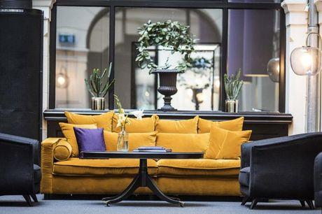 Genieten in Kopenhagen. Vlakbij de Tivoli Tuinen. 4-sterrenhotel met moderne inrichting. Kies voor logies of logies en ontbijt