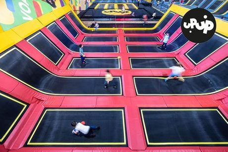 Já foi a algum parque de trampolins? O UPUP Park tem mais de 80! Venha divertir-se, dar muitos saltos e viver momentos inesquecíveis. Experiência para adultos e crianças, por apenas 9,90€.