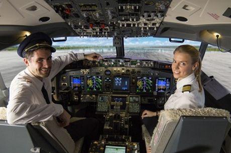 30, 45 of 60 minuten in een Boeing-vluchtsimulator voor 5 personen bij Brussels Flight Simulators