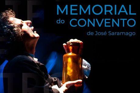 """Assista a uma das maiores obras da literatura portuguesa, de José Saramago. """"Memorial do Convento"""": Representado no local onde se passou o romance, o Palácio Nacional de Mafra, por apenas 9,5€."""